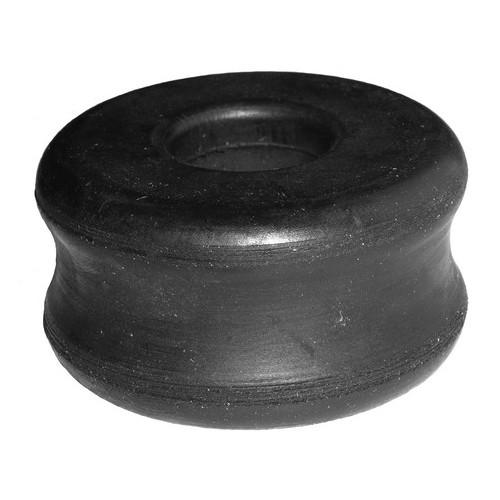 Rubber bearing, shock absorber