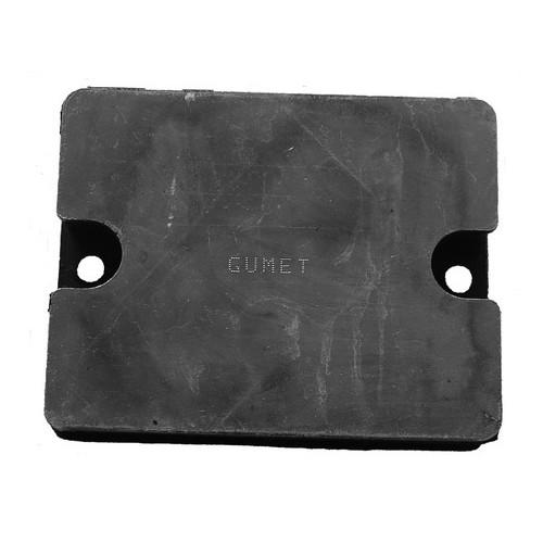 Rubber metal pad
