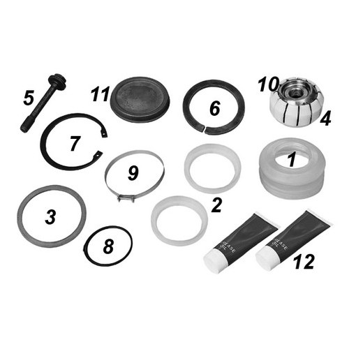 Repair kit central joint, V-arm